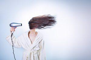Femme, Séchage Des Cheveux, Jeune Fille, Femmes